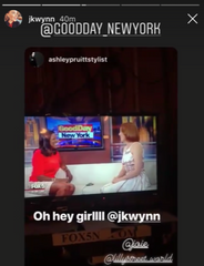 Jessica Kennan Wynn wearing Lilly Street's Radiance Night Sky earrings on Good Day New York