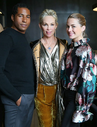 Hassan Pierre and Amanda Hearst at the Lilly Street X Maison De Mode trunk show with Lynn at Spring Place