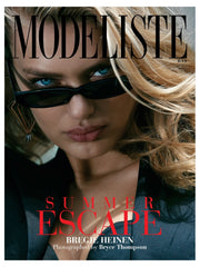 Model Bregje Heinen wearing Lilly Street's Radiance Corset earrings for the cover of Modeliste Magazine