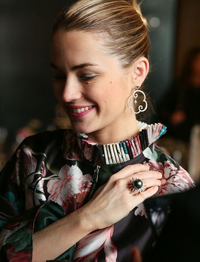 Amanda Hearst at the Lilly Street X Maison De Mode trunk show at Spring Place