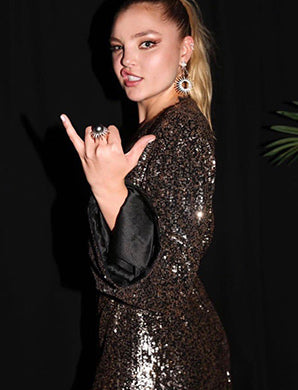 Rachel Hilbert at the Harper's Bazaar Icon event