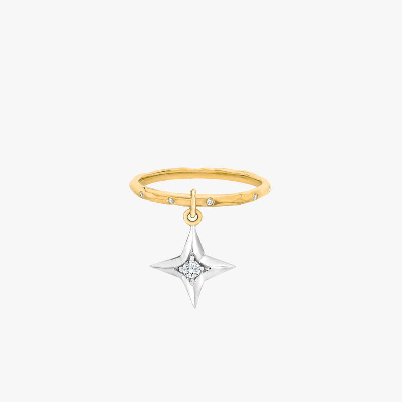 North Star 1.8MM Hammered Stackable Band