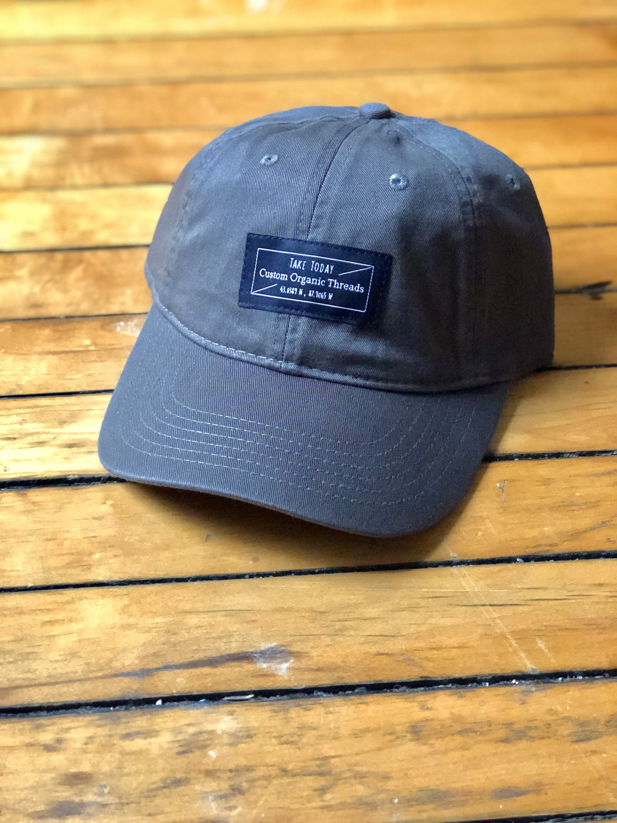 """downtown"" dad hat in dusk"