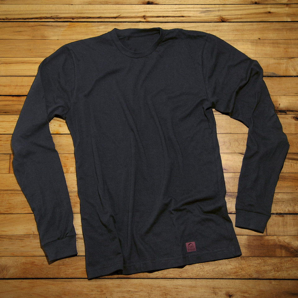 """the original"" long sleeve t in black"