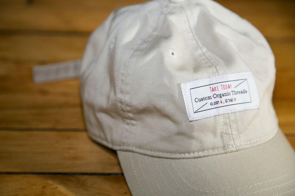 """downtown"" dad hat in canvas"