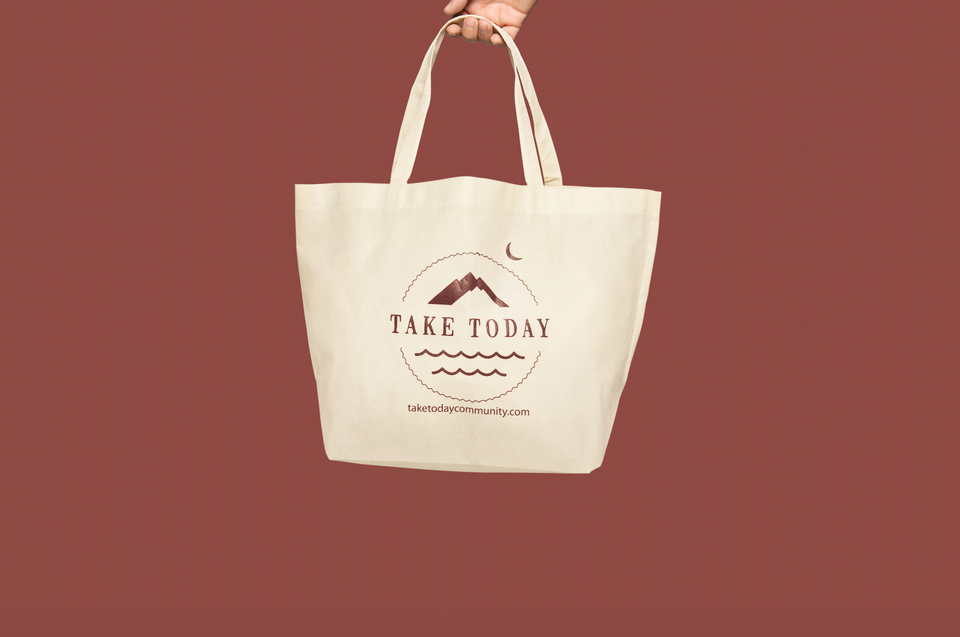 """show us your totes"" logo bag"
