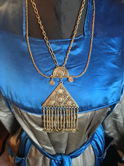 Edie Segwick Vibes Absolutely Gorgeous Napoleon Coins, Egyptian Revival Necklace