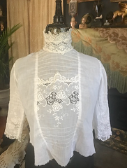 Gorgeous Edwardian Beautiful Victorian / Gibson Girl / Lawn Dress / Soiled Doves / Bodice Blouse for Upcycling / study piece /or wear