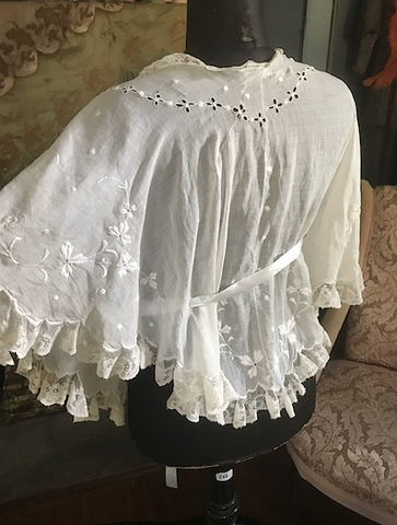 Pretty Baby Lingerie Shawl / Edwardian Shawl / Victorian Shawl / Lace wrap Exquisite
