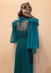 "A Testimonial to Teal Boudoir Queen Classic Custom Ready To Ship ""Virgilene Maxi Dress"""
