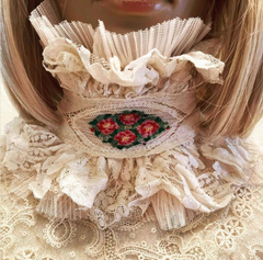 Ivory with Floral Detail custom Gothic Boudoir Queen Royal Label Winchester House Collar // Choker // Neck piece Bridal