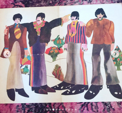 "Groovy ""EYE Magazine""  INSERT POSTER  The Beatles   August 1968  Original, Official  Yellow Submarine Licensed Product"