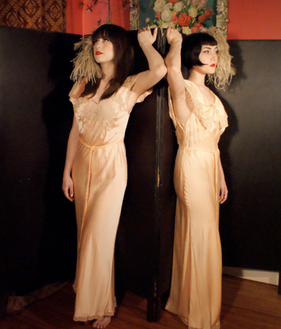 1930's Lingerie Slip Dress Night Gown