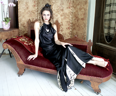 New Arrival Boudoir Queen Slinky Bedecked Hoydens Dress Made with 1920's Textiles