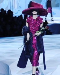 Marc Jacobs Faux Fur Purple Stole RUNWAY