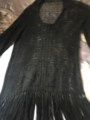 Witchy Hand Knotted Flapper Crochet Fringe Top  // Blouse // Dress Boardwalk Empire
