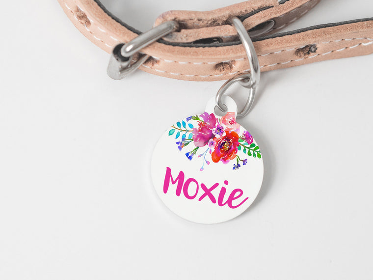 Bright Floral Pet Tag