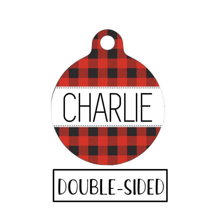 Buffalo Plaid Pet Tag