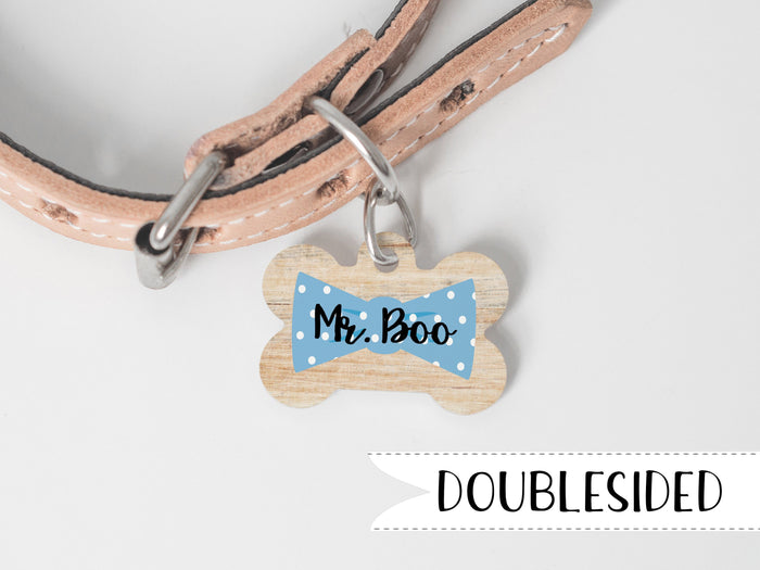 Bowtie Dog Tag with Name