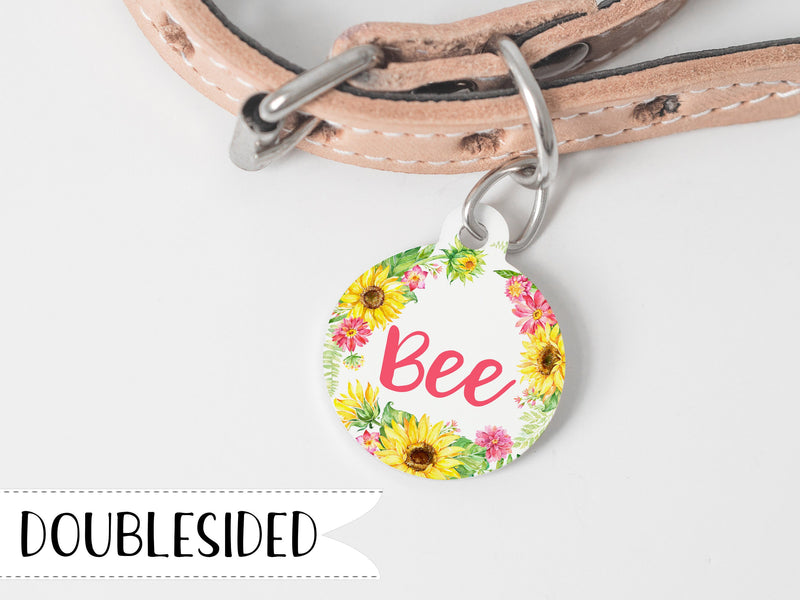 Sunflower Pet Tag