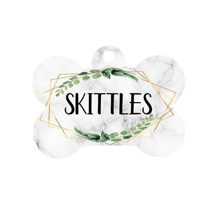 Botanical & Marble Dog Tag