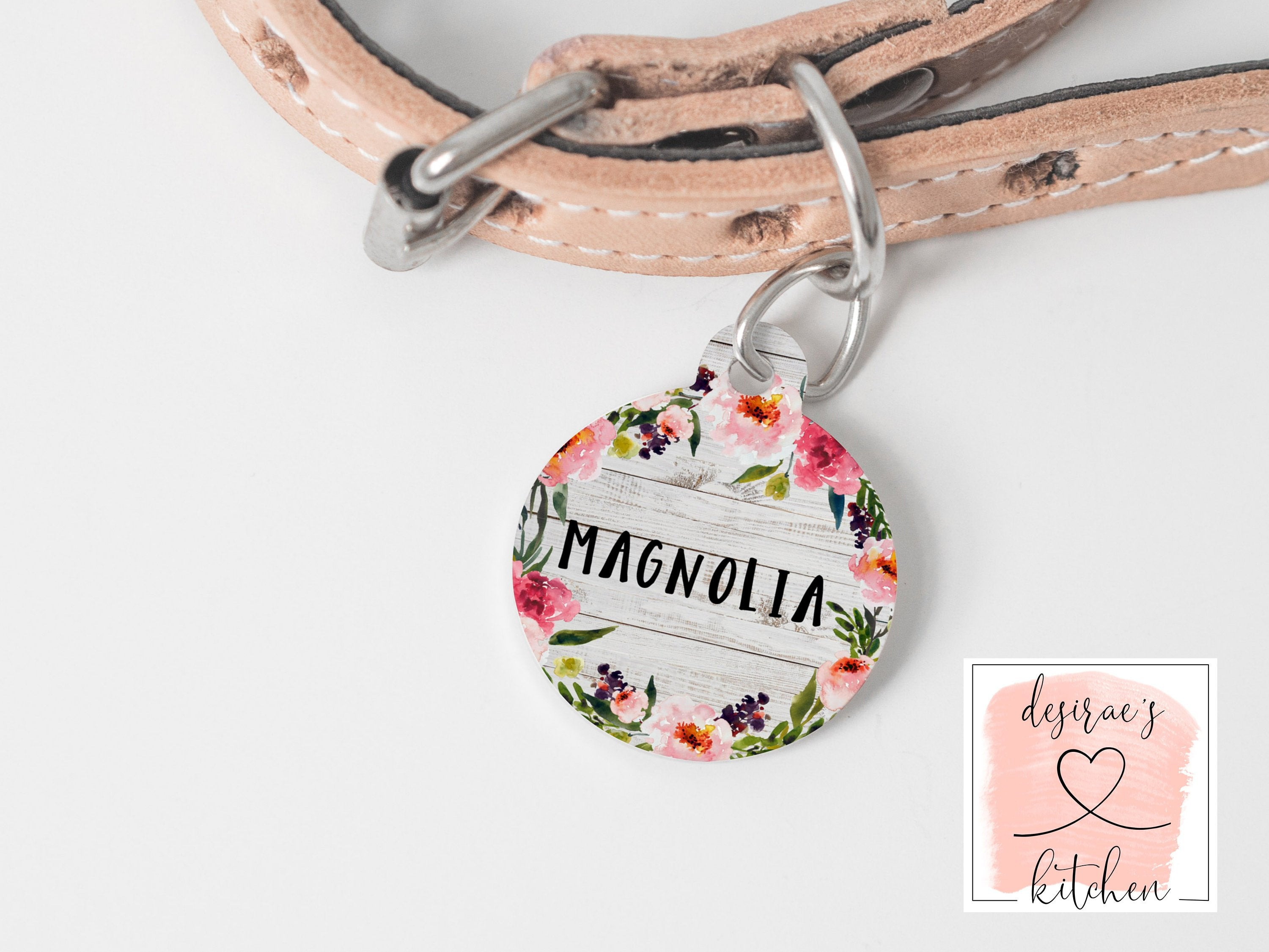 Floral Wreath Pet Tag