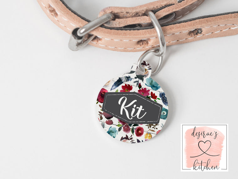 Boho Feather Pet Tag