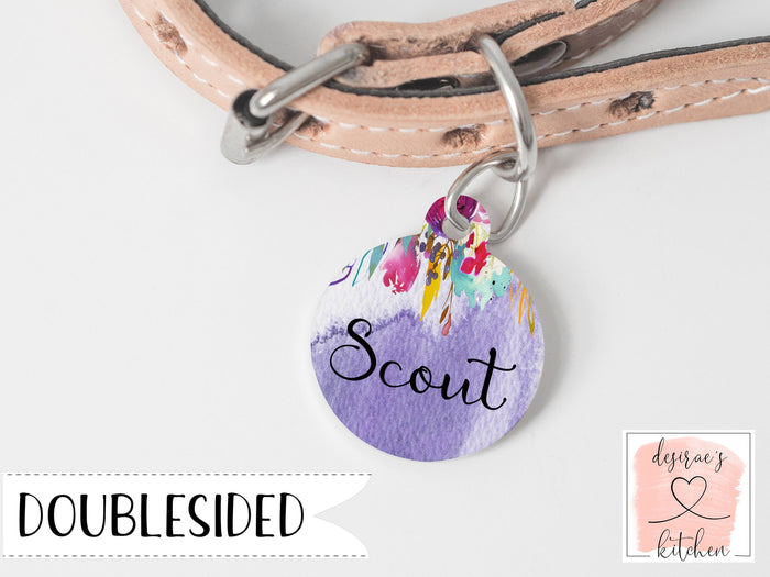 Floral Dog Tag for dogs