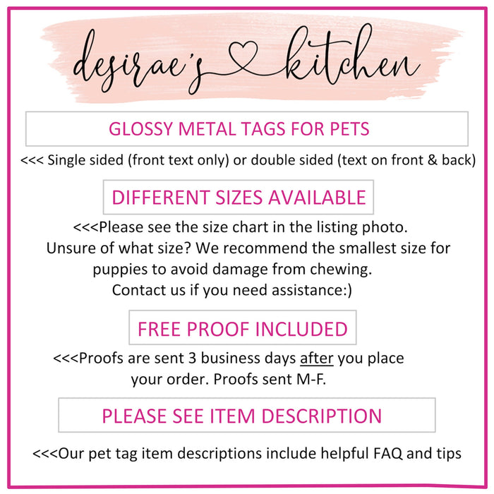Metal Pet ID Tag
