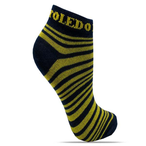 University of Toledo Striped Ankle Socks