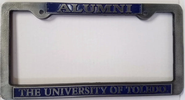 University of Toledo Pewter License Plate Frame -Alumni
