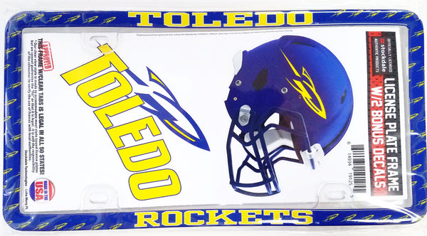 University of Toledo Stockdale Plastic License Plate Frame w/ Decals