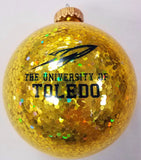 University of Toledo Glitter Glass Ornament