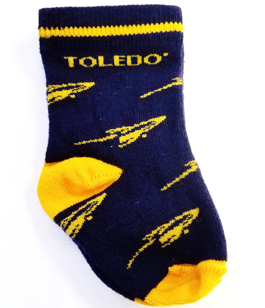 University of Toledo Infant Booty Socks