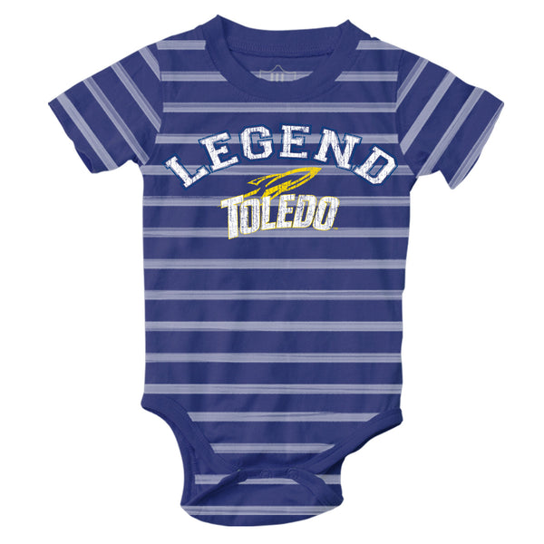 University of Toledo Rockets infant striped onesie
