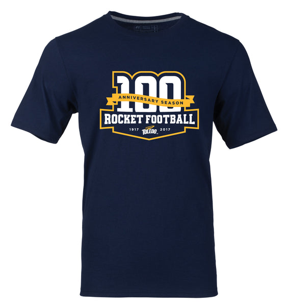 Limited Edition University of Toledo 100th Anniversary Rocket Football Tee