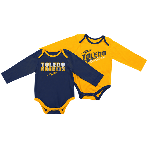 University of Toledo Rockets baby long sleeve onesie