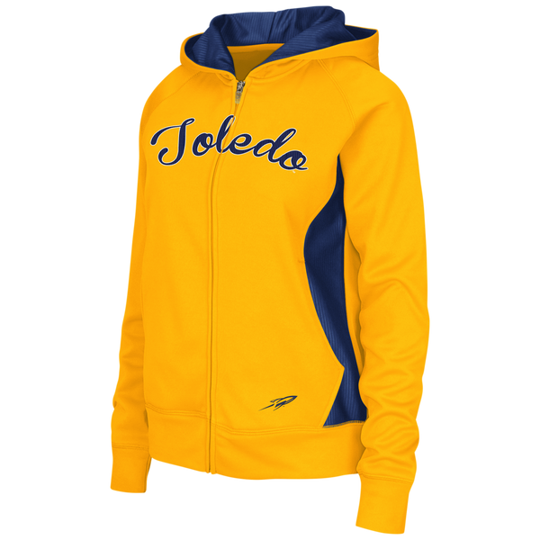 University of Toledo Ladies Free Ride Color Blocked Full Zip Hoodie
