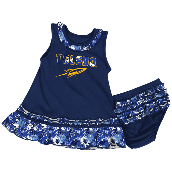 University of Toledo Rockets infant dress with ruffles