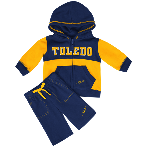 University of Toledo Rockets infant sweatsuit with hoodie and pants