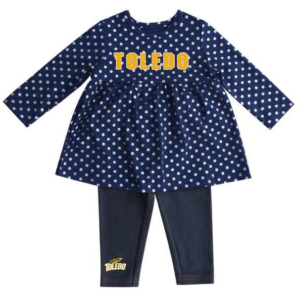 University of Toledo Rockets infant shining cheer dress set