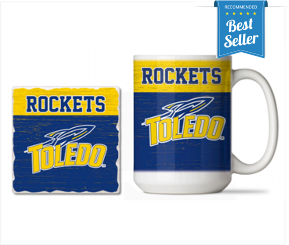 University of Toledo Ceramic Mug & Coaster Gift Set