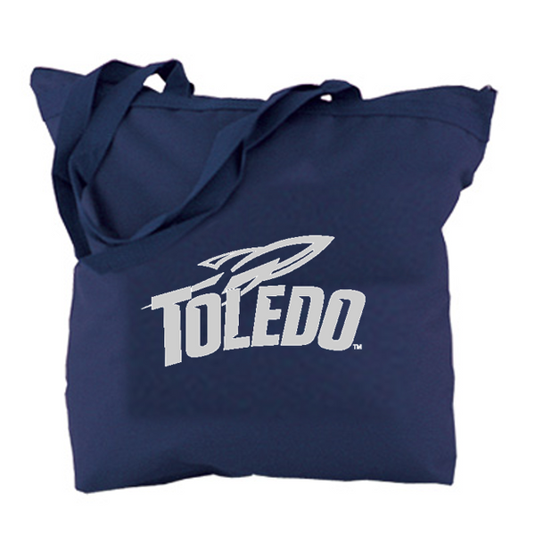 University of Toledo Canvas Tote Bag Navy