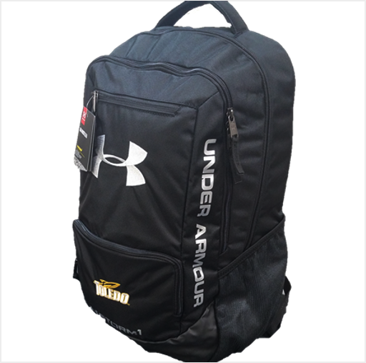University of Toledo UA Hustle II Backpack Black