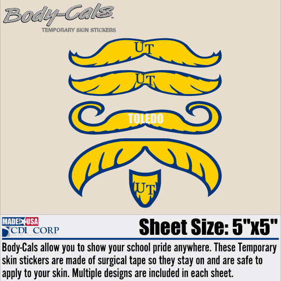 University of Toledo Mustache face stickers