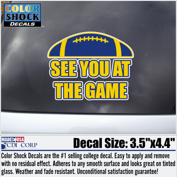 University of Toledo See You at the Game car decal