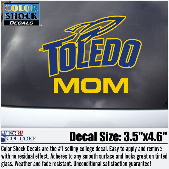 University of Toledo Mom car decal