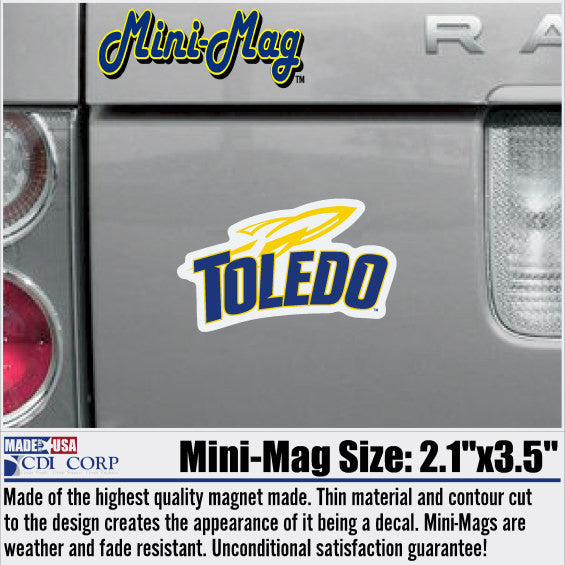 University of Toledo Rockets Sport Logo Magnet
