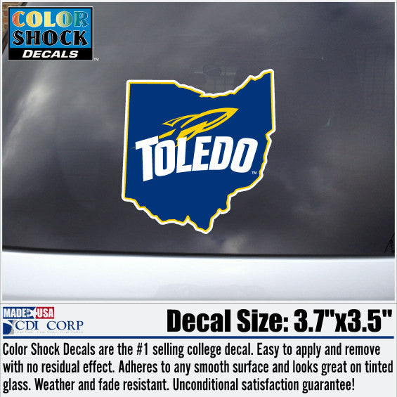University of Toledo Color Shock Ohio Decal