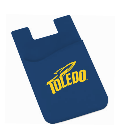 University of Toledo Rockets Navy Silicone Adhesive Wallet